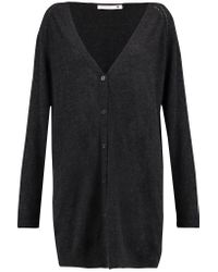 Pringle of Scotland - Gray Cashmere And Silk-blend Cardigan - Lyst