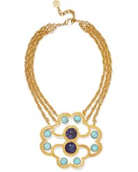 Ben-Amun - Metallic Gold-tone And Stone Necklace - Lyst