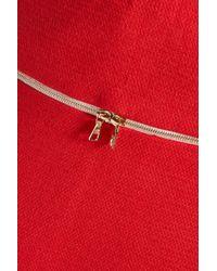 Sandro - Red Joplin Cotton-blend Jacquard Mini Skirt - Lyst