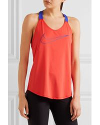 Nike | Orange Elastika Stretch-jersey Tank | Lyst