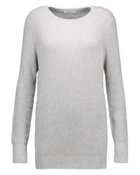 Equipment - Gray Rei Ribbed Cotton And Cashmere-blend Sweater - Lyst