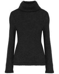 Brandon Maxwell - Black Layered Stretch-knit Turtleneck Sweater - Lyst