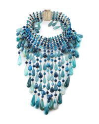 Rosantica - Blue Glass And Gold-tone Necklace - Lyst