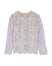 Diane von Furstenberg - Blue Belle Corded Lace Top - Lyst