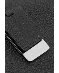 Jil Sander - Black Textured-leather Clutch - Lyst