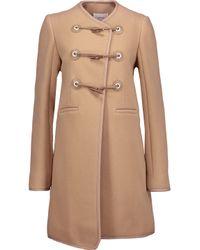 Carven - Natural Wool-blend Coat - Lyst