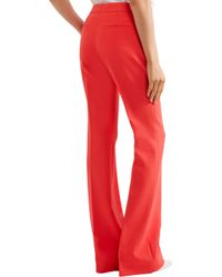 Victoria, Victoria Beckham - Stretch Wool-blend Flared Pants - Lyst