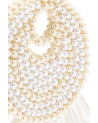 Kenneth Jay Lane - White Gold-tone Faux Pearl Earrings - Lyst