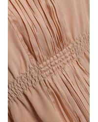 Agnona - Multicolor Plissé-paneled Two-tone Silk Tunic - Lyst