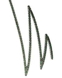 Khai Khai - Green Oxidized 18-karat Gold Tsavorite Earrings - Lyst