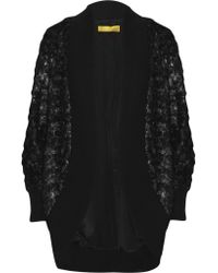 Catherine Malandrino | Black Oversized Faux Fur Cardigan | Lyst