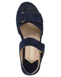 Paloma Barceló - Blue Suede Platform Sandals - Lyst