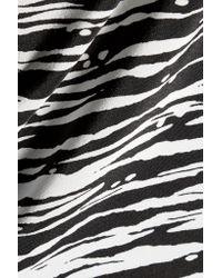 Vince - Black Printed Silk Dress - Lyst