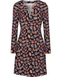 Diane von Furstenberg - Black Pixie Printed Silk-jersey Dress - Lyst