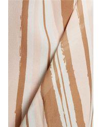 Raoul - Brown Fiorella Ruffled Striped Chiffon Blouse - Lyst