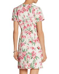 Jonathan Saunders | White Jodie Floral-print Twill Dress | Lyst