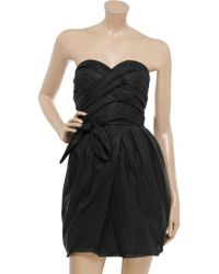 Marc By Marc Jacobs - Black Pleated Cotton-organza Dress - Lyst