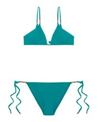Melissa Odabash - Blue Verona Nautical Striped Triangle Bikini - Lyst