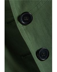 10 Crosby Derek Lam - Cropped Cotton-blend Twill Jacket Army Green - Lyst