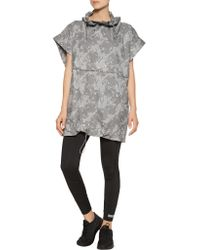 Adidas By Stella McCartney | Gray Printed Coated Shell Jacket | Lyst