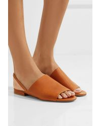 Vince - Brown Dawson Leather Slingback Sandals - Lyst