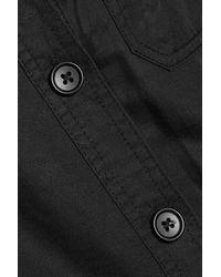 Robert Rodriguez | Black Cotton And Linen-blend Jumpsuit | Lyst
