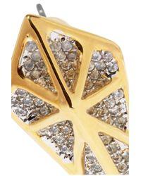 Noir Jewelry | Metallic Hidden Gold-tone Crystal Earrings | Lyst