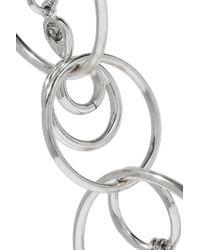 Luv Aj - Metallic Eclipse Silver-tone Crystal Earrings - Lyst