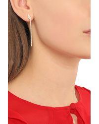 Khai Khai - White Gold-tone Crystal Earrings - Lyst