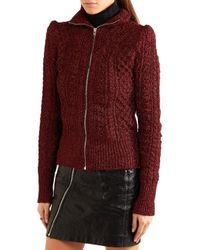 Isabel Marant - Red Daley Cable-knit Lurex Cardigan - Lyst