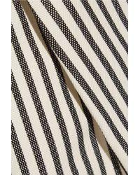 3.1 Phillip Lim - White Striped Cotton-blend Jersey Shorts - Lyst