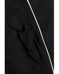 Maje - Black Jacquard Shorts - Lyst