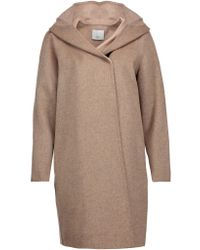 Vince | Multicolor Wool-blend Hooded Coat | Lyst