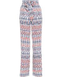 Joie - White Printed Silk Wide-leg Pants - Lyst