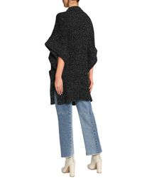 See By Chloé - See By Chloé Woman Oversized Marled Bouclé-knit Sweater Black - Lyst