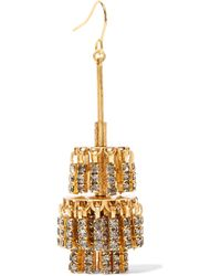 Elizabeth Cole - Metallic Jayne Gold-tone Crystal Earrings - Lyst