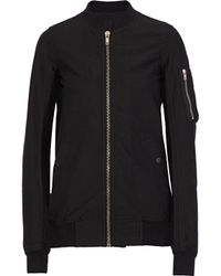DRKSHDW by Rick Owens - Black Flight Ribbed Cotton-blend Bomber Jacket - Lyst