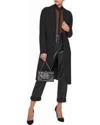 Alexander Wang - Black Wool-blend Coat - Lyst