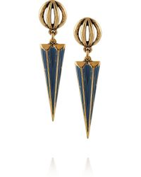 Lulu Frost - Blue Orbit Gold-tone Earrings - Lyst