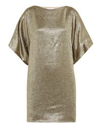 Vionnet | Metallic - Silk-blend Lamé Tunic - Gold | Lyst