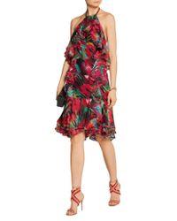 Jason Wu - Blue Ruffled Printed Silk-chiffon Dress - Lyst