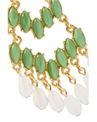 Ben-Amun - Green Gold-plated Resin Earrings - Lyst