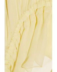 Elizabeth and James - Yellow Eleanor Ruffled Silk-crepon Camisole - Lyst