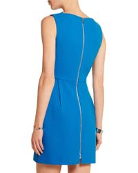 Roland Mouret | Blue Zonda Wool-crepe Mini Dress | Lyst