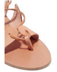 Ancient Greek Sandals - Multicolor Amaryllis Embellished Lace-up Leather - Lyst