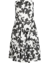 Thakoon - Black Strapless Cotton And Silk-blend Jacquard Dress - Lyst