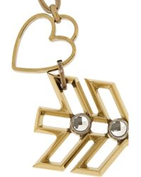 Lanvin - Metallic Gold-tone Swarovski Crystal Necklace - Lyst