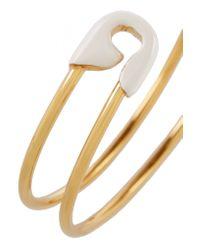 Iam By Ileana Makri - Metallic Enameled Gold-plated Safety Pin Cuff - Lyst