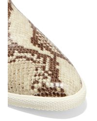 Marc By Marc Jacobs   Natural Gracie Snake-effect Leather High Top Sneakers   Lyst