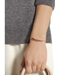 Monica Vinader - Multicolor Linear 18ct Rose Gold-plated And Amazonite Bracelet - Lyst
